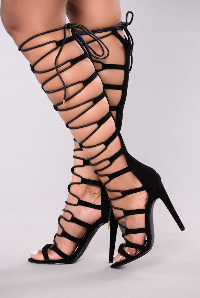 Candace Cage Heel - Black