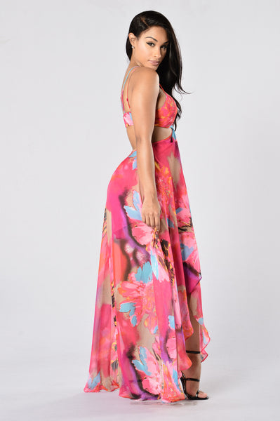 On Vacation Dress - Fuchsia
