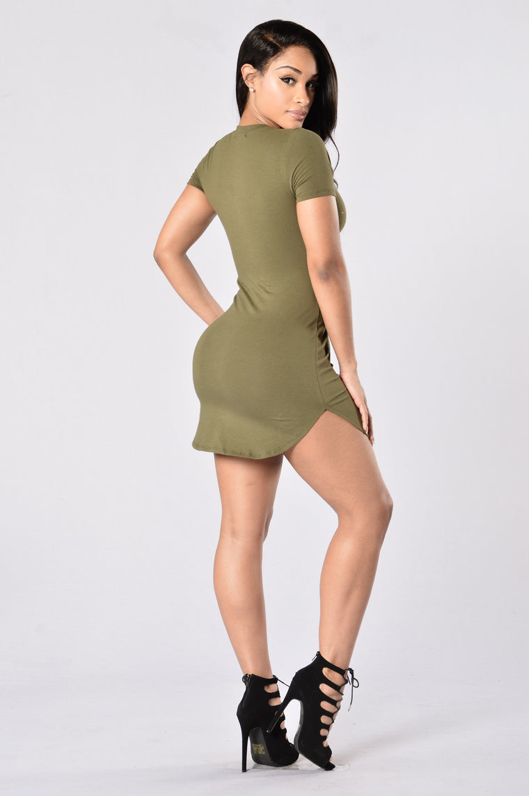 Slashed Tunic - Olive