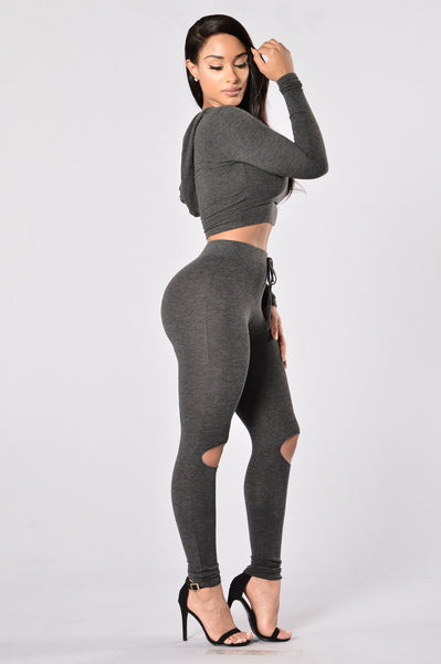 International Lover Legging - Charcoal