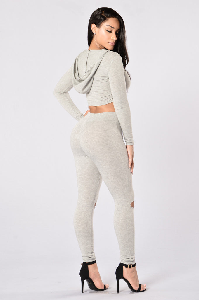International Lover Legging - Heather Grey