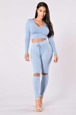 International Lover Legging - Light Denim