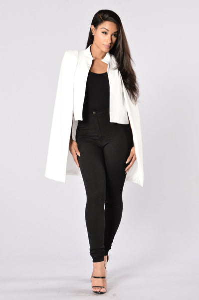Countess Cape Blazer - White