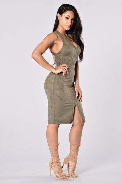 Evergreen Dress - Olive