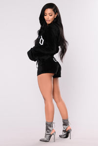 Sweet Thang Velour Jacket - Black