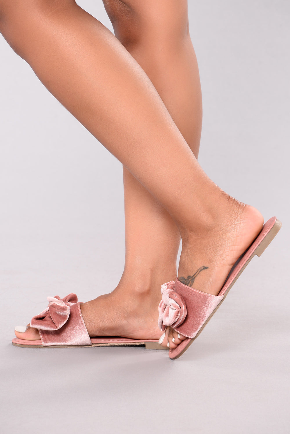 Bella Bow Slider - Mauve