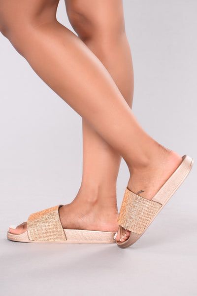 Halsey Sliders - Rose Gold