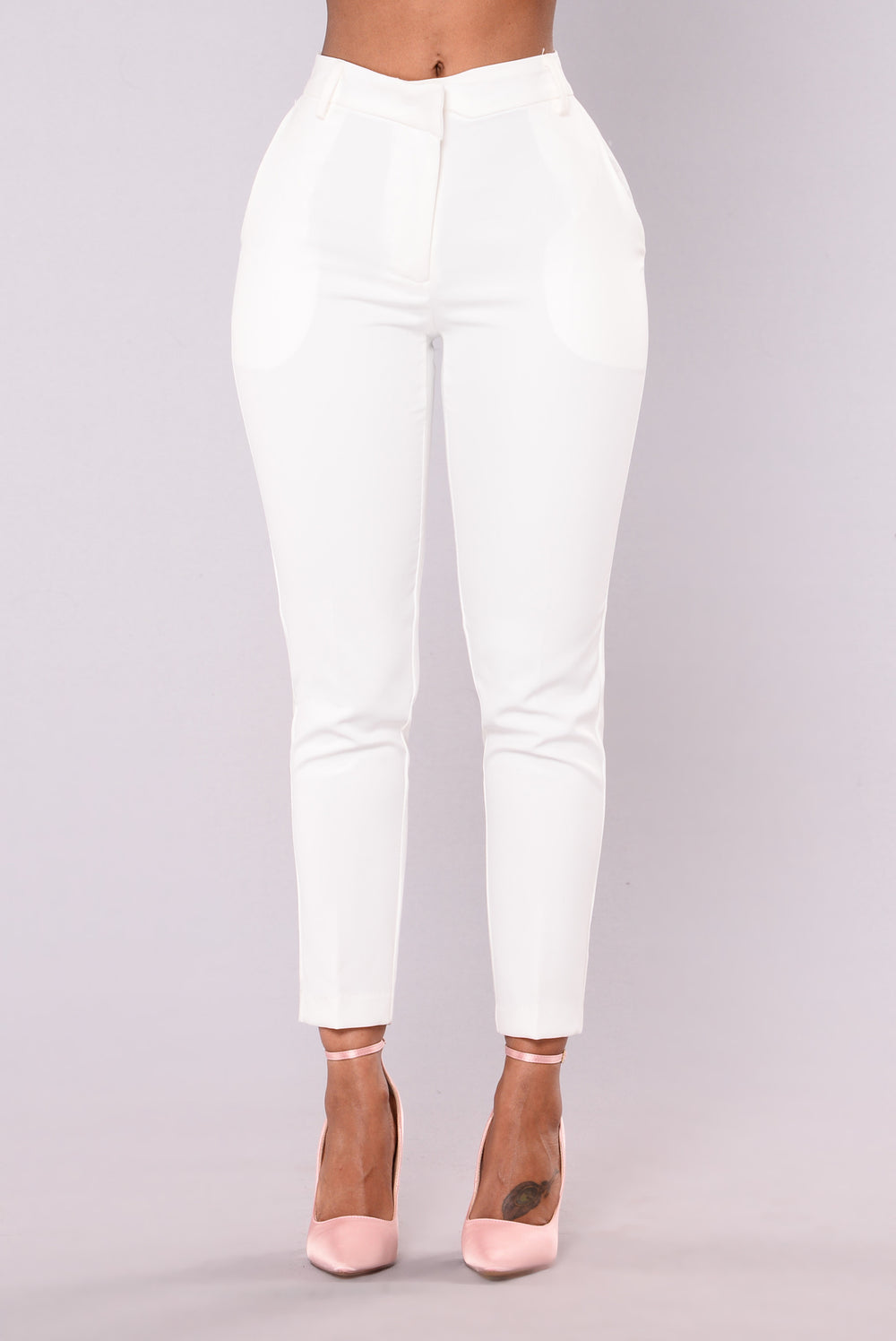 Cassey Pleated Pants - White