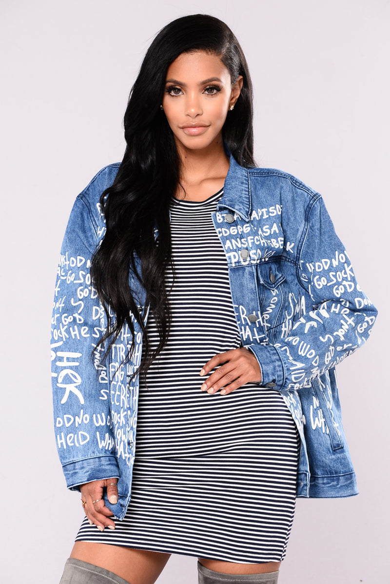 Cooper Printed Jacket - Blue
