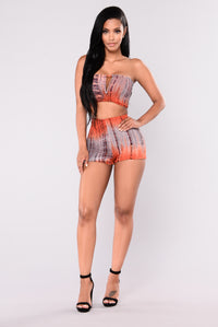 Foul Mouth Top - Orange Multi