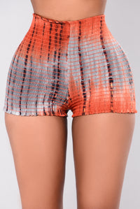 Foul Mouth Shorts - Orange Multi