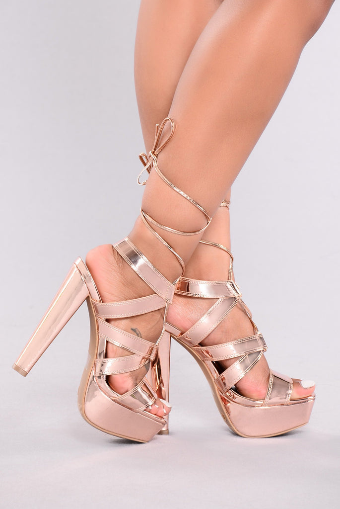 Rose Shoes Heels
