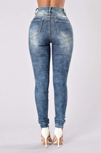 Fight Club Jeans - Medium Blue