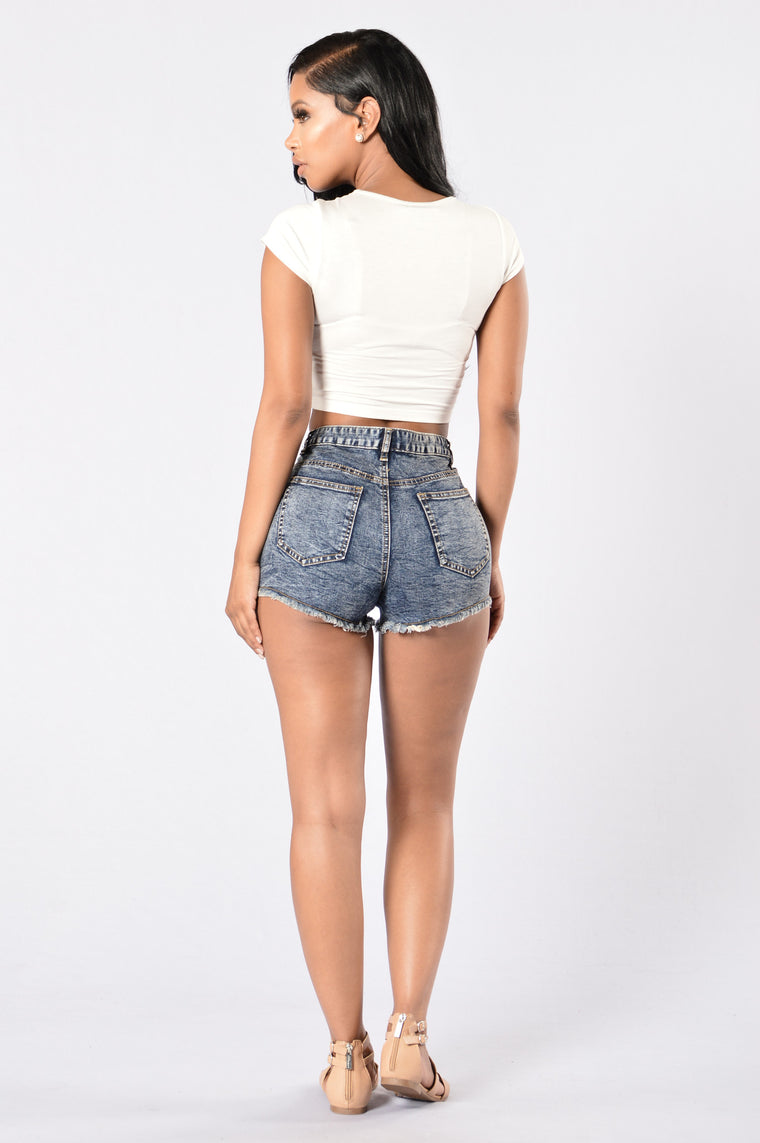 Sparklers Denim Shorts - Blue Wash