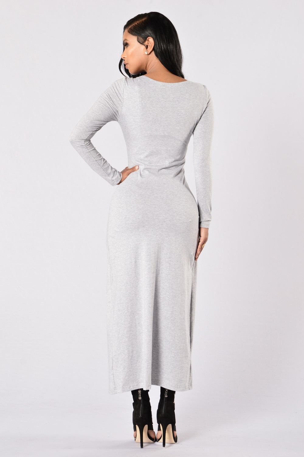 Long Ride Dress - Heather Grey
