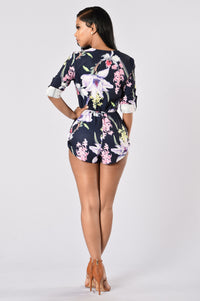 Tropical Storm Romper - Navy