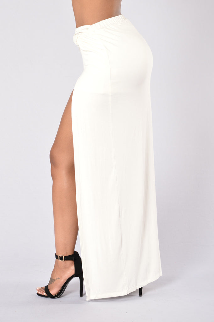 Knot My Problem Skirt - White