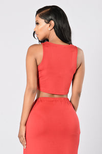 Knot My Problem Top - Red