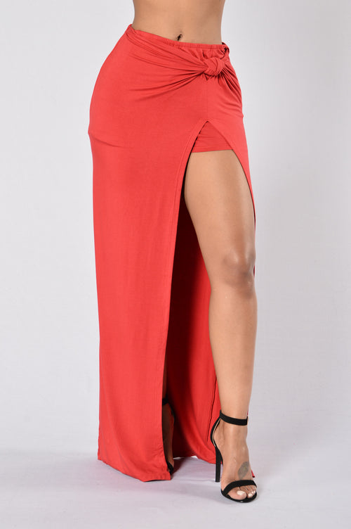 Knot My Problem Skirt - Red