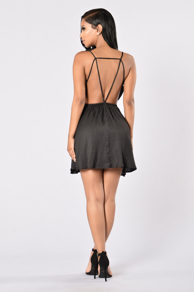 Palm Spring Dress - Black