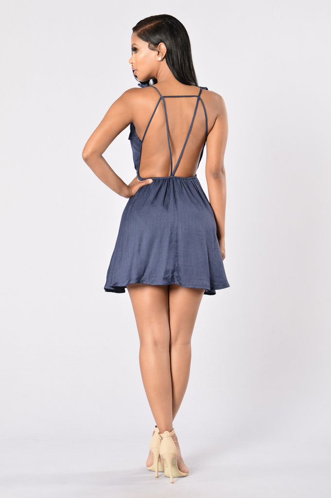 Palm Spring Dress - Navy