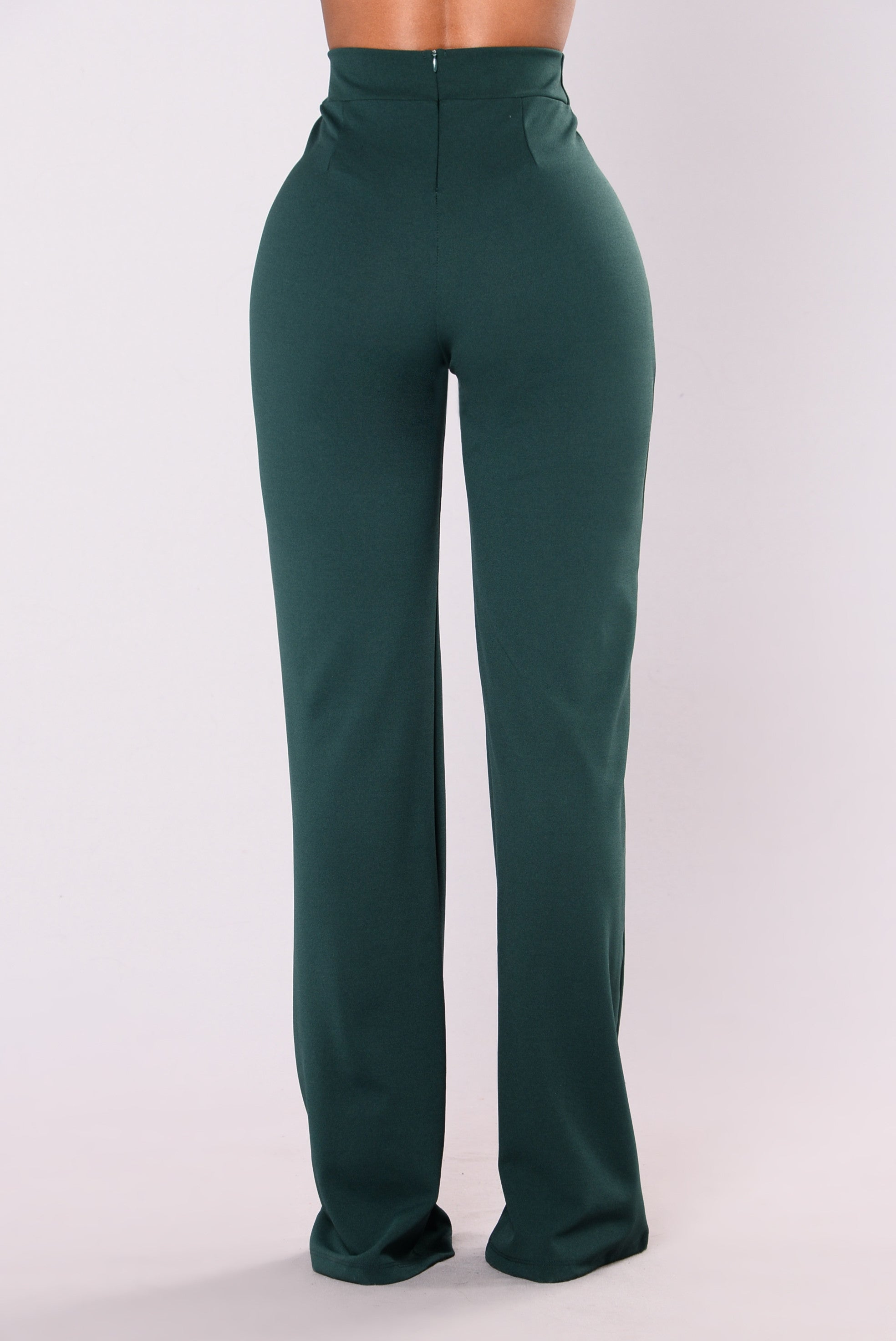Victoria High Waisted Dress Pants Hunter Green