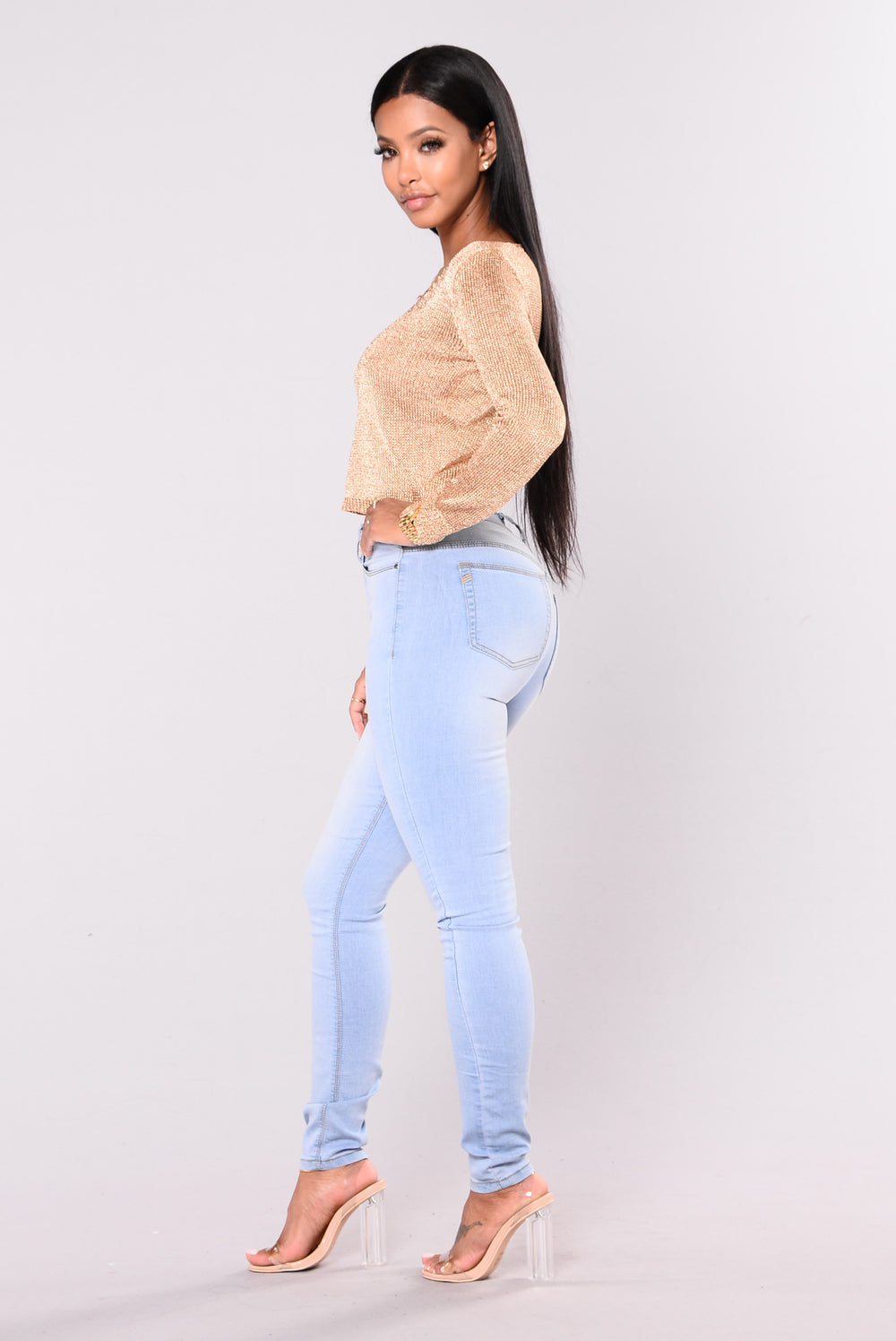 Caneli Jeans - Grey/Blue