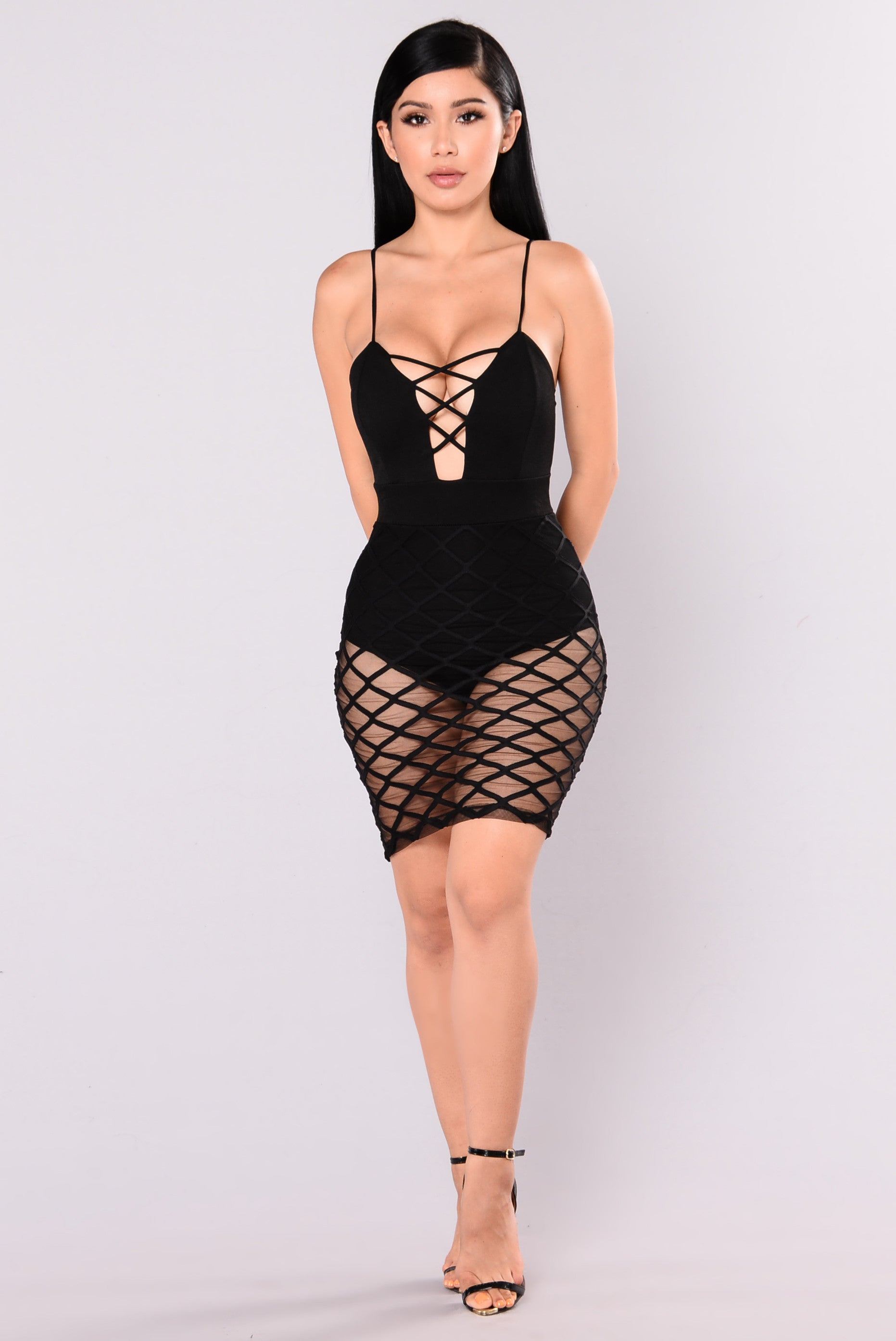 Adira Diamond Mesh Dress