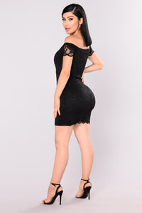 Friendzone Lace Dress - Black