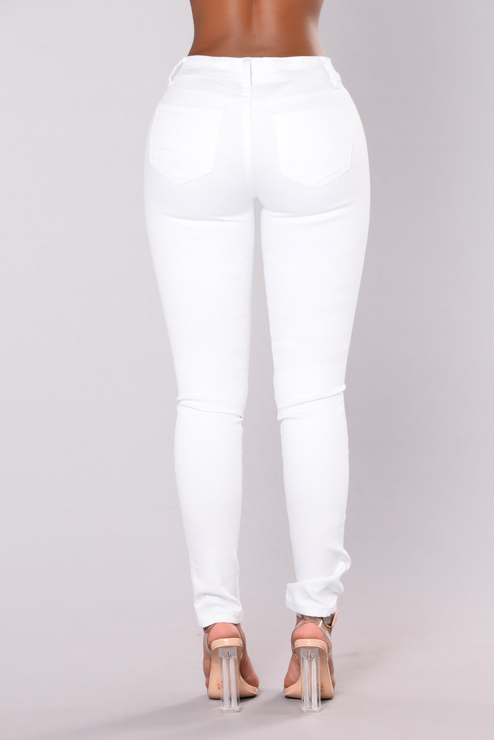 Sassy Distress Jeans - White