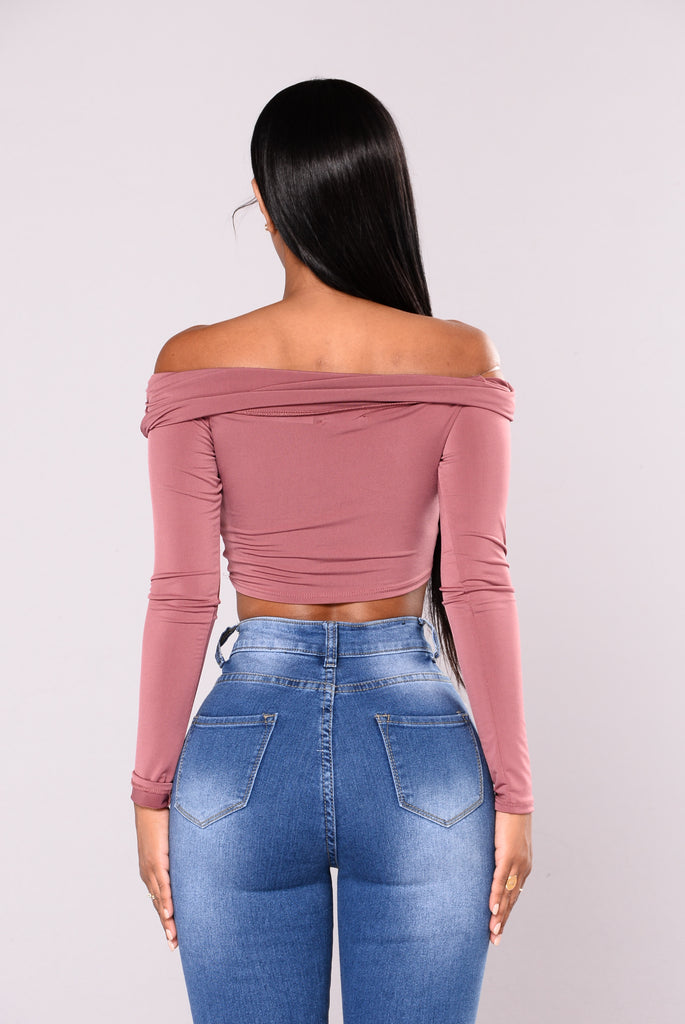 Jazmine Off Shoulder Top - Mauve