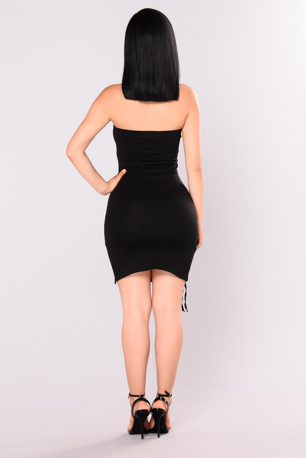 C U Later Lace Up Dress - Black