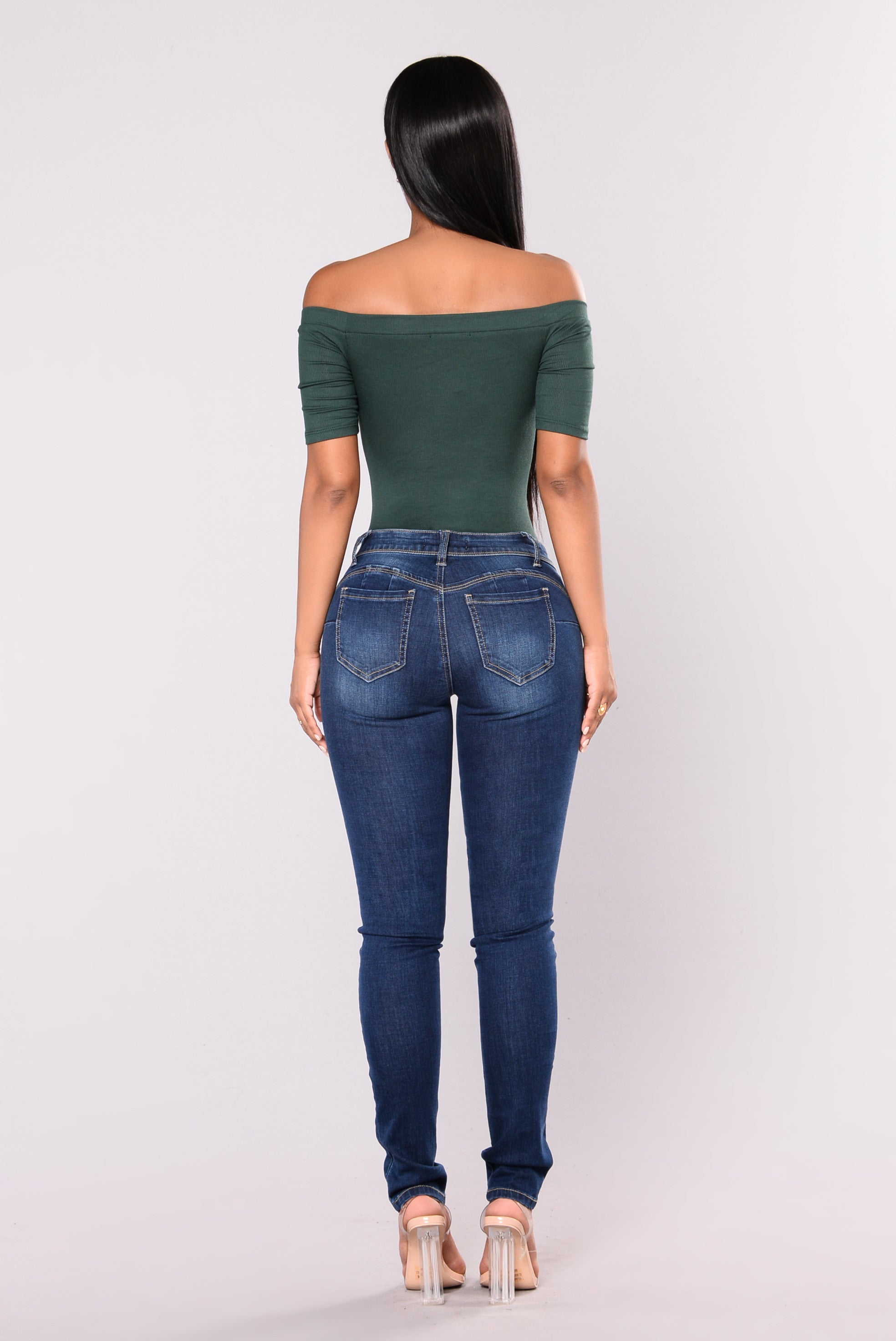 Make It Bounce Booty Shaping Jeans Medium Blue