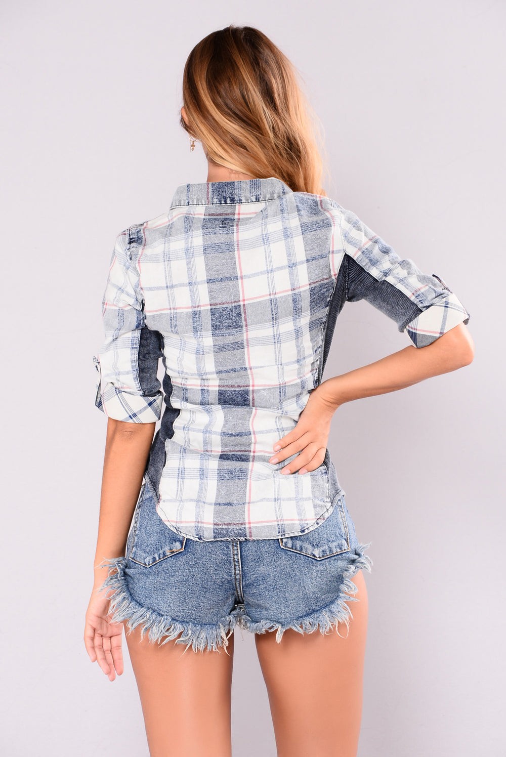 Favorite Flannel II Top - Indigo