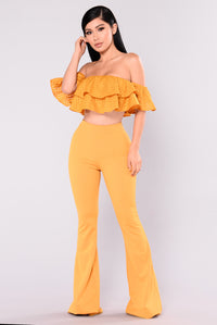Best Of Me Ruffle Set - Mustard Angle 1