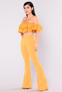 Best Of Me Ruffle Set - Mustard Angle 4