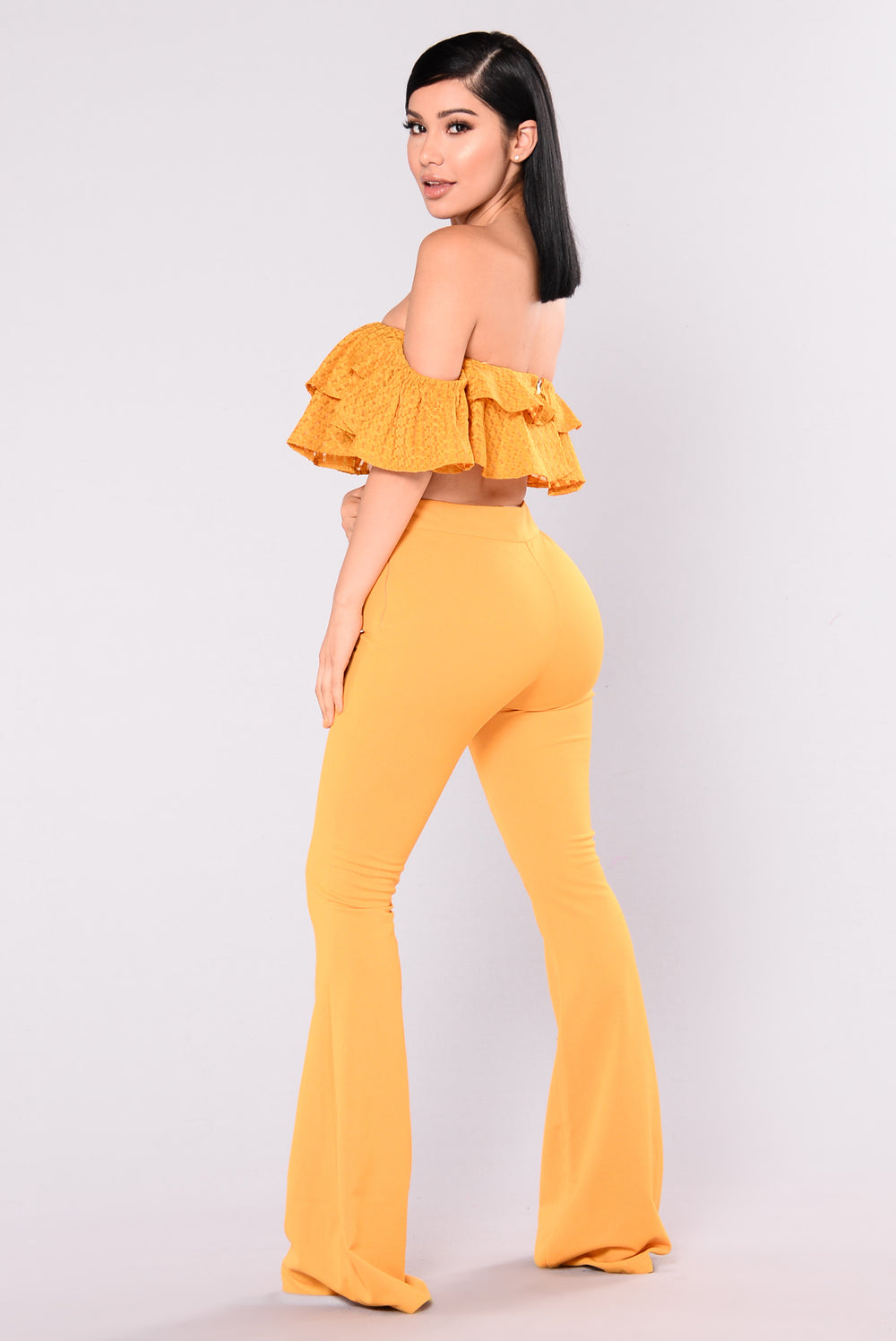 Best Of Me Ruffle Set - Mustard