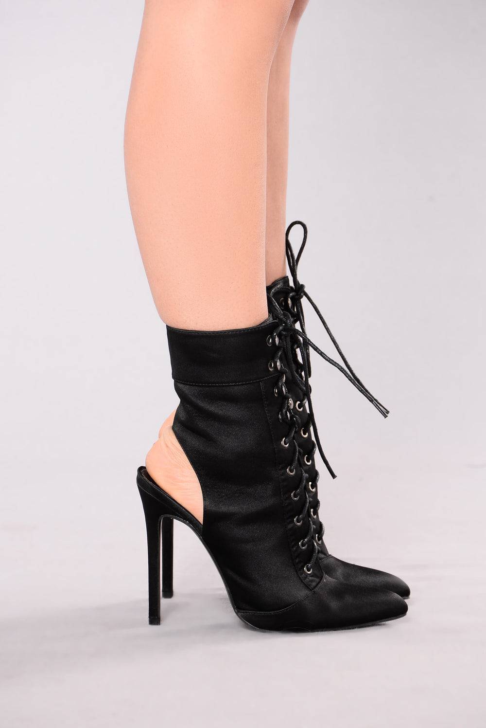 Anaya Lace Up Heel - Black
