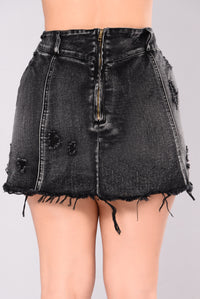 Clarisa Denim Skirt - Vintage Black