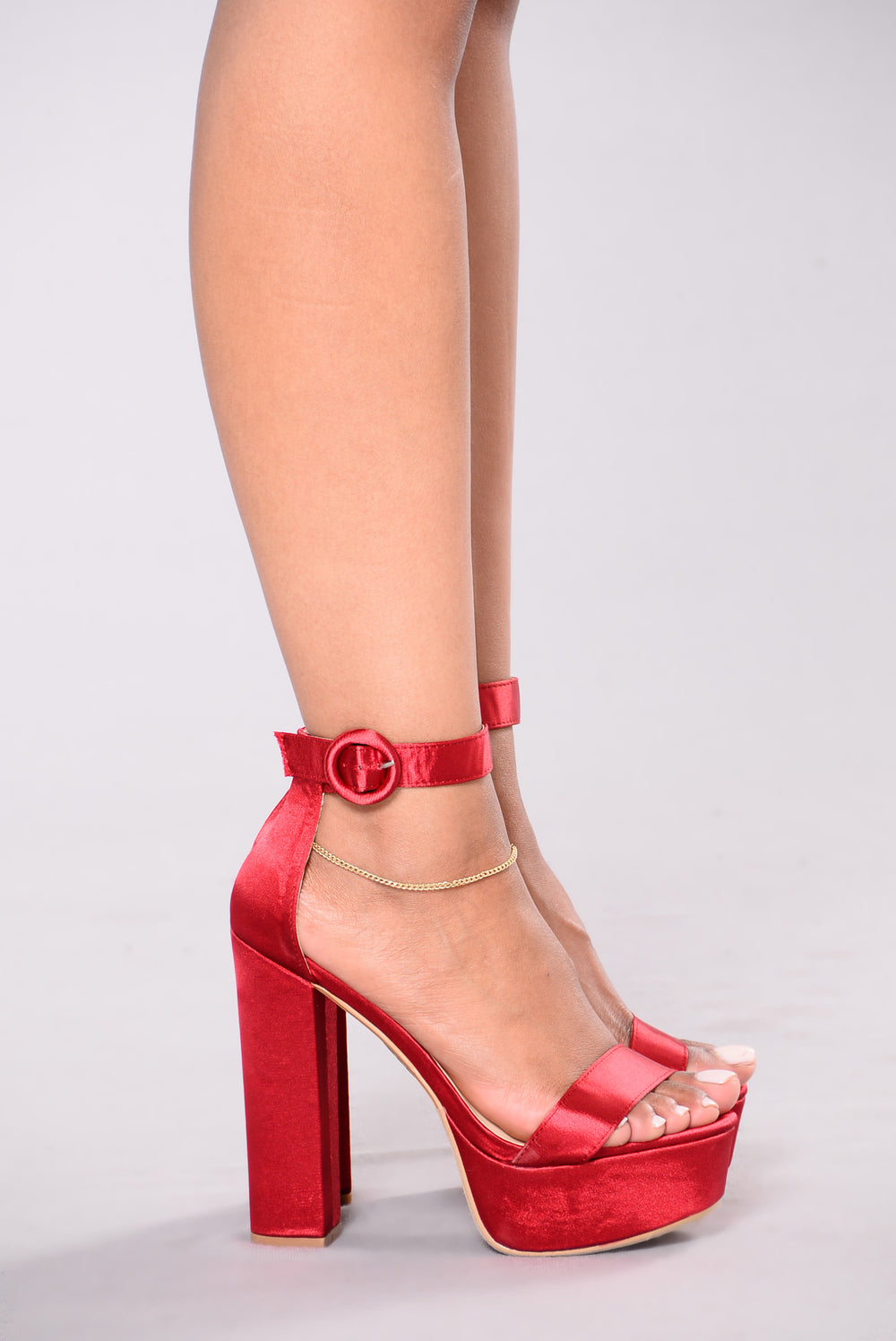 Where's The Party Heel - Burgundy