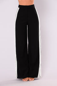 Wayne Stripe Pants - Black/White