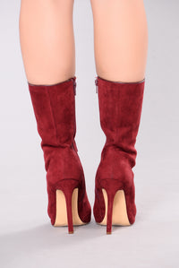 Elektra Lace Up Bootie - Wine