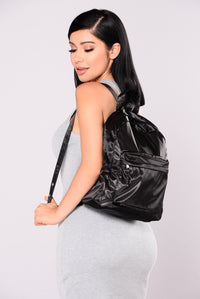 Satin Fun Backpack - Black