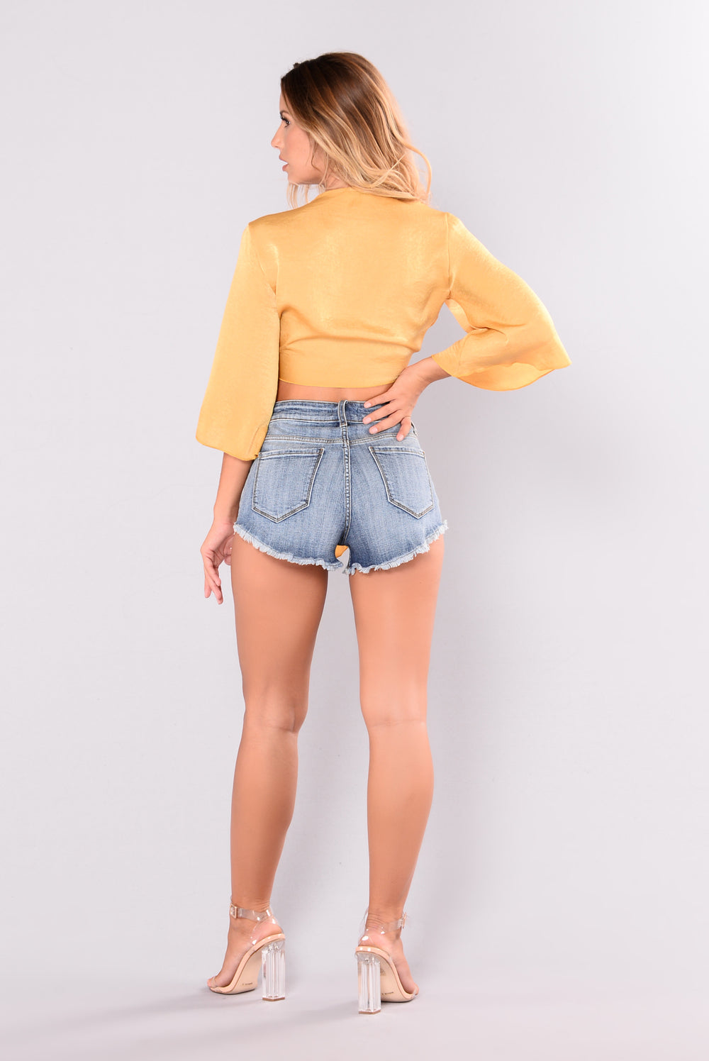 Whatever You Like Crop Top - Mustard