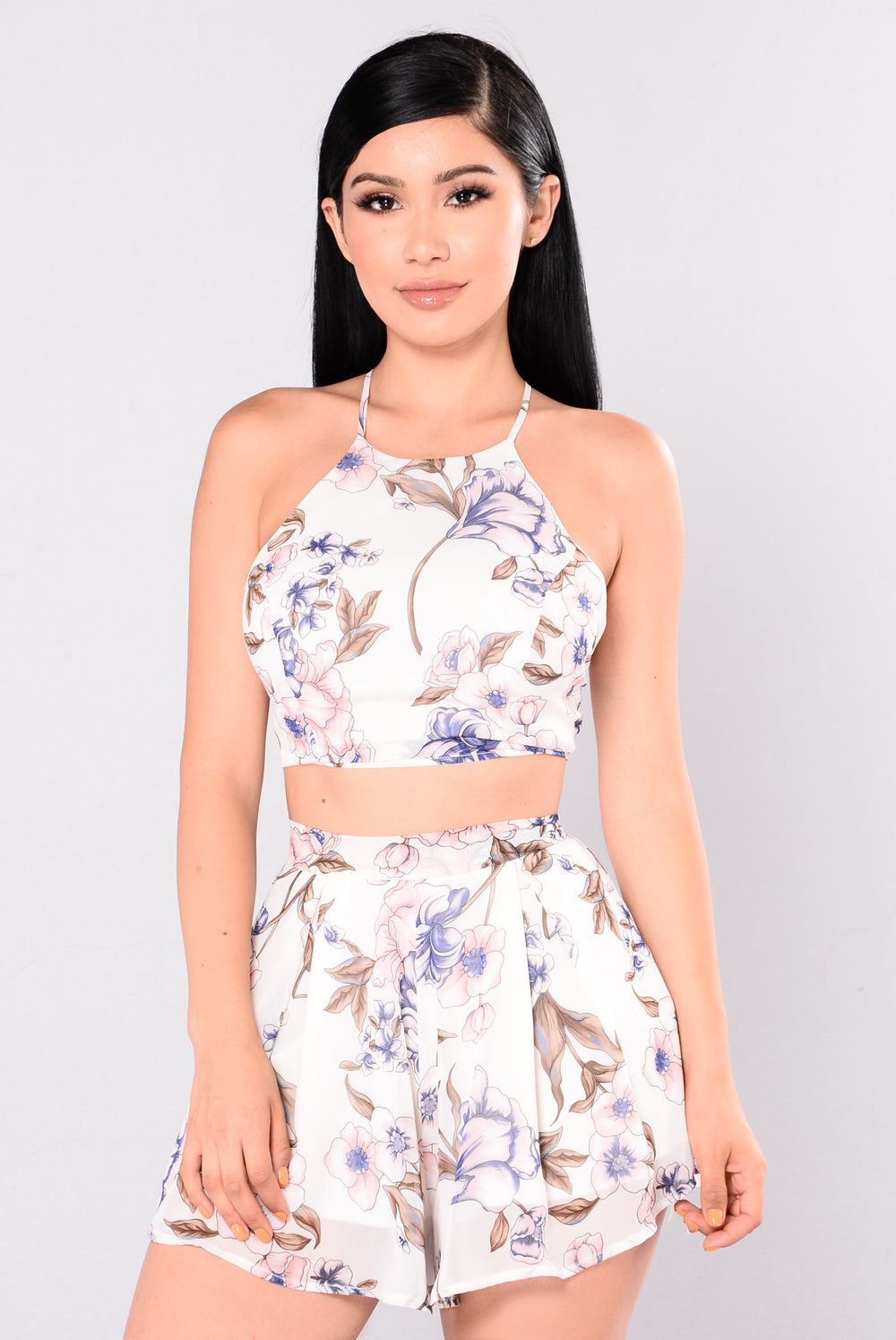 Akila Floral Set - Off White