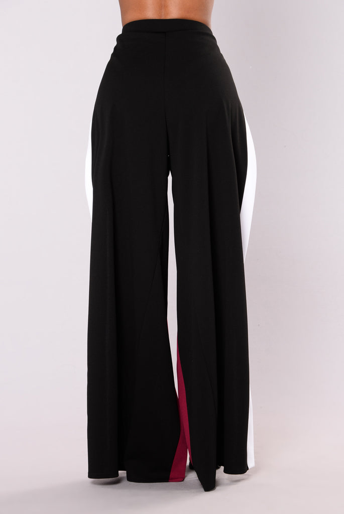 Kloe Slit Pants - Black