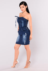 Lorri Denim Dress - Dark