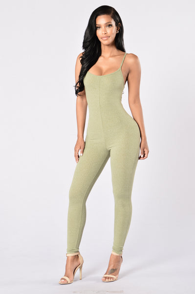 Little Miss Popular Jumpsuit - Sage
