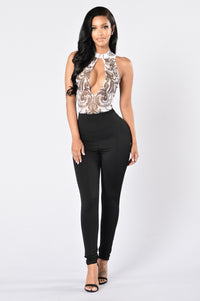 Take the Plunge Jumpsuit - Black Angle 1