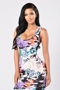 Watercolor Dress - Multi